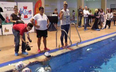 Schwimmunterricht mit Franziska van Almsick