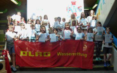 Abschlussfeier Augsburger Kids auf Schwimmkurs